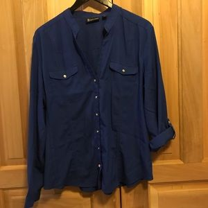💚2 for $30💚Royal blue button front blouse NY&C